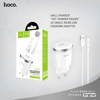 POP UP HOCO Wall charger C37 Thunder power US single Micro USB charging adapter