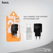 POP UP HOCO Wall charger C33A Superior EU plug double USB