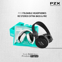 POP UP PZX Foldable Headphones R2 Stereo Extra Bass & Mic