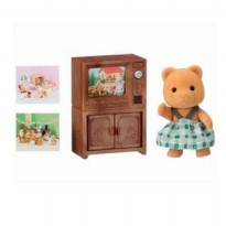 EBS BEAR SISTER W/ TV SET