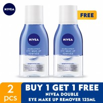 BUY 1 GET 1 FREE NIVEA Double Eye Make Up Remover 125ml