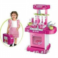 (READY) Alat Masak Mainan Anak / Kitchen Koper Set