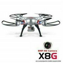 (DISKON) Drone Full Camera 8 MP / Syma X8G 2.4G RC QUADCOPTER With 8