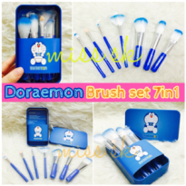 DORAEMON BRUSH KALENG 7 in 1 / make up brush / kuas doraemon