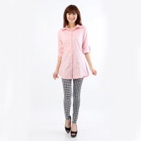 Jfashion Korean Style Shirt With Back tie Long sleeve - Dewi