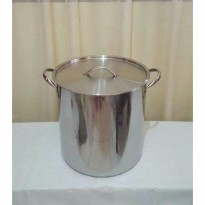(LIMITED) Panci Stok Pot Supra Stainlees Stell Tebal 30Qt