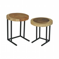 Meja Kayu Nasting Natura Set Of 2