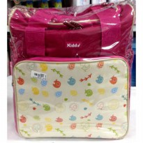 (DISKON) Kiddy Tas Kombinasi Motif Animals Pink