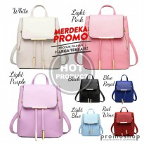 B324 Tas Backpack Ransel Korea Import wanita leather premium quality