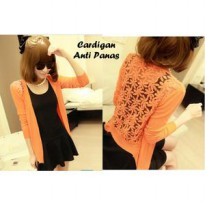 Cardigan Unik ORANGE (adem, anti panas / dingin, anti gerah)