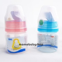 Huki Bottle Susu 60ML Pink & biru- Botol Susu Bayi 60ml