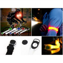 LED dan Reflectif Arm Band Silicon Sport Lari run bike sepeda outdoor
