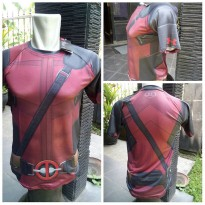 KAOS BAJU DEADPOOL GYM FITNESS LARI RUNNING SUPERHERO COMPRESSION 3D