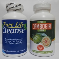 Paket 1 Set Pure Cambogia Ultra + Pure Life Cleanse Original USA