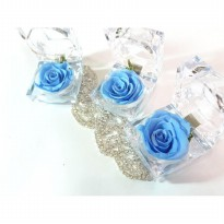 (LIMITED) Preserved Flower Blue Rose In Acrylic Box Real Rose Best