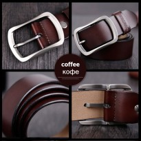 COWATHER Ikat Pinggang Pria Genuine Leather - CY002 Size 130 CM - Coffee