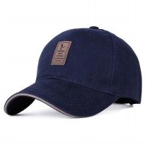 Topi Baseball Golf Logo Ediko Sport Fashion - Navy Blue