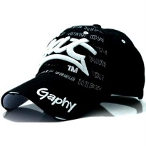 Topi Baseball Snapback Graphy - Black