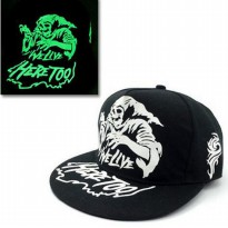 Topi Baseball Snapback Glow in the Dark Luminous Witch - Black