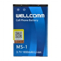 Wellcomm Battery Double IC MS-1 Untuk BB Bold, Onyx