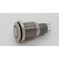 PUSH ON OFF NIKEL + LAMPU LED ( ULIR 19 MM )