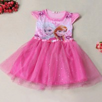 Dress Anak Disney Frozen Size 6T - Pink