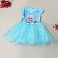 Dress Anak Disney Frozen Size 7T - Blue