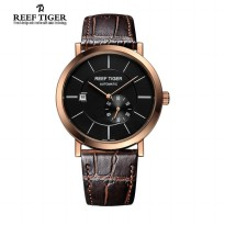 Jam Tangan Reef Tiger Rga161 Seattle Mountain Rainer Rosegold Brown Deal Black Original
