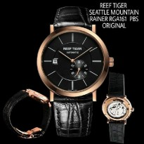 Jam Tangan Reef Tiger Rga161 Seattle Mountain Rainer Rosegold Black Original