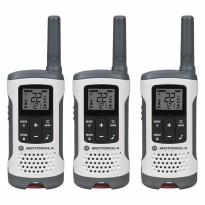 Motorola Walkie Talkie T260TP - Walky Talky 2 Pcs Up To 25 Mile - White