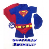 Superman Swimsuit / Baju Renang Diving Superhero Anak Bayi
