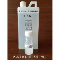 RESIN BENING 1kg + KATALIS 30 ML