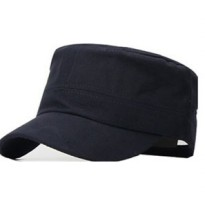Topi Flat Top - Navy Blue