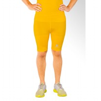 Tiento Baselayer Compression Celana Olahraga Tight Legging Short Pants Yellow Silver Original