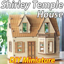 Shirley Temple House/Miniature Model/House/Miniatures/Figure/Assembly Kits/Plywood/Interior/DIY