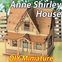 Anne Shirley House/Miniature Model/House/Miniatures/Figure/Assembly Kits/Plywood/Interior/DIY