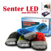 Senter Pompa LED Tanpa Baterai / Hand Pressing Flashlight