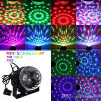 Mini RGB LED Party Light Disco Club DJ Crystal Magic Ball Effect Stage Light