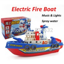 [globalbuy] Electric Fire Boat Boat Model Children electric toy Boat Water Spray with ligh/2692723