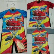 baju renang diving new CARS size anak tk