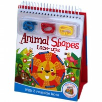 Terlaris Buku Edukasi Anak Animals Shapes Lace-ups with 3 Reusable Laces