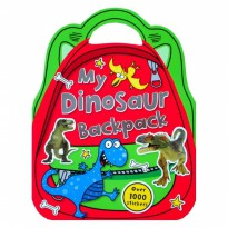 Terlaris Buku Edukasi Anak My Dinosaur Backpack Sticker Bag Book with over 1000 Stickers