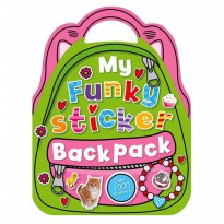 Terlaris Buku Edukasi Anak My Funky Sticker Backpack Book with over 1000 Stickers