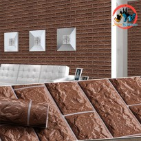 Wallpaper Sticker Premium 10 Meter - Coffee Brick
