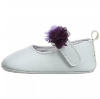 Sepayu bayi / Baby Patch Purple Flower Prewalker Shoes