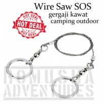 Romusha Wire Saw Gergaji Tali SOS Outdoor Camping Survival