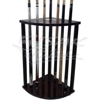 Murrey Floor Cue Rack - Rak Stick Lantai Kayu - Hold 7 PC Billiard Cue