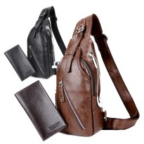 [1+1] Crossbody Bag Shoulder Backpack Leisure Pack