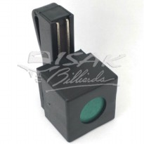 Magnetic Billiard Chalk holder - with Belt Clip - Hitam
