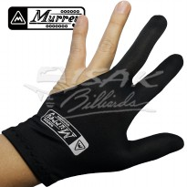 Murrey 3-finger Gloves, Pool Billiard - Lycra One Size Fits All Black